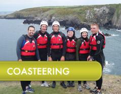 Coasteering in Pembrokeshire